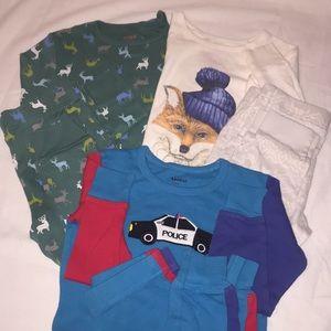 Bundle of Three Long Sleeve/ Pants PJ's!!